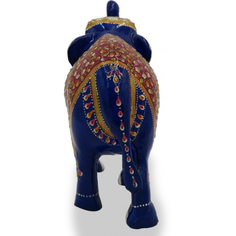 Elephant with Trunk Up Made using Metal and Hand Painted - Home Decor Gift