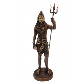 Lord Shiva, Master of all Yogis standing with Trishul made in Brass