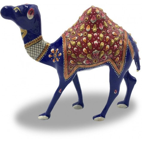 Camel Rajasthan Handmade and Colored in Metal - Corporate Gift Handicrafts