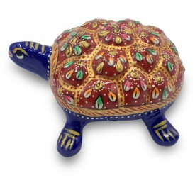 Tortoise made in Metal and Hand Painted with Deco Paint - Home Decor Handicraft