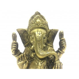 Ganesh statue in brass 5 inches - Ganesha idol and Ganpati figurines in brass