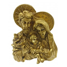 Lord Jesus family in brass 4.5 inches - Baby Jesus, Virgin Mary and St. Joseph from Nazareth statue | figurine | sculpture - Christmas gifts