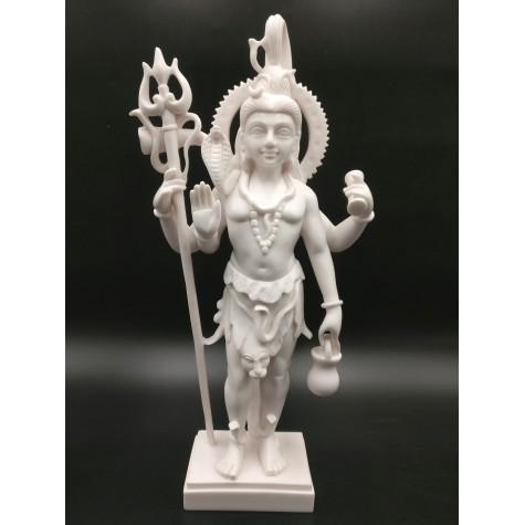 Shiva Standing Statue in Marble - Lord Shiva Majestic Figurine Indian Religious Gift Item