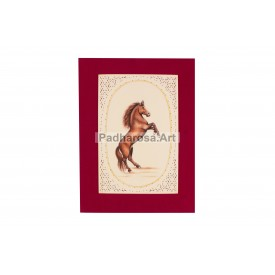 Miniature Painting of Horse standing on 2 Legs