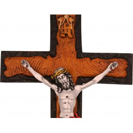 Jesus on Cross Handmade Silver Polyresin Statue - Jesus Christ Cross - Gift a Cross