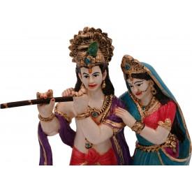 Radha Krishna Polyresin Handmade Statue