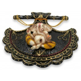 Exquisite Ganesha Wall Hanging Handmade in Polyresin - Gift a Ganesha Wall Hanging
