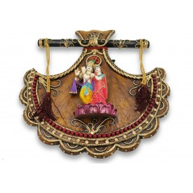 Radhe Krishna Wall Hanging Handmade with Polyresin - Radha Krishna Jodi Resin Wall Hanging