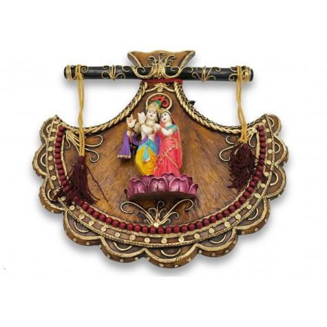 Radhe Krishna Wall Hanging Handmade with Polyresin - Radha Krishna Jodi Resin Wall Hanging