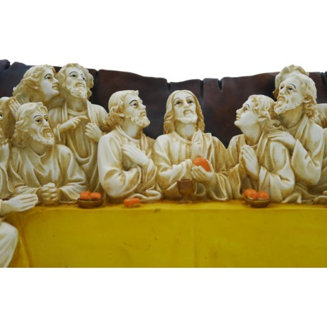 The Last Supper - Handmade in Polyresin - Jesus Christ in Last Supper - Spiritual Gift