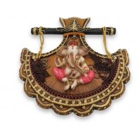 Ganesha Wall Hanging Handmade in Polyresin - Resin made Ganpati wall hanging home decor