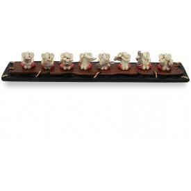 Ashtavinayak Ganeshas with Musical Instruments Handmade Polyresin - Gift A Ganesha