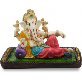 Ganpati Idol Handmade in Polyresin - Lord Ganesha Home Decor Statue