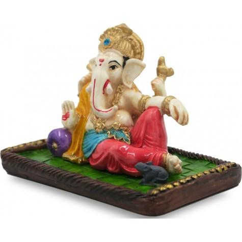 Ganpati Idol Handmade in Polyresin - Lord Ganesha Home Decor Statue
