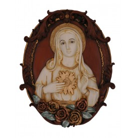 Mother Mary Handmade Polyresin Wall Hanging - Virgin Mary Gift Wall Hanging