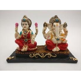 Laxmi Ganesh Statue in Polyresin - Diwali special gift Ganesha Lakhsmi Idol