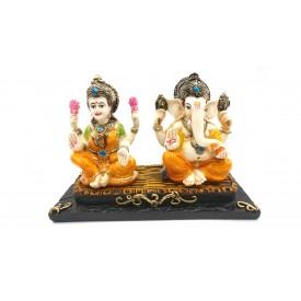 Laxmi Ganesh Statue in Polyresin - Ganesha Lakshmi Idol for Diwali