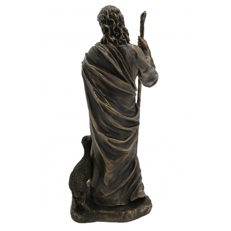 Jesus Christ Holding Lamb Statue - Lord Jesus with Sheep Handmade Figurine