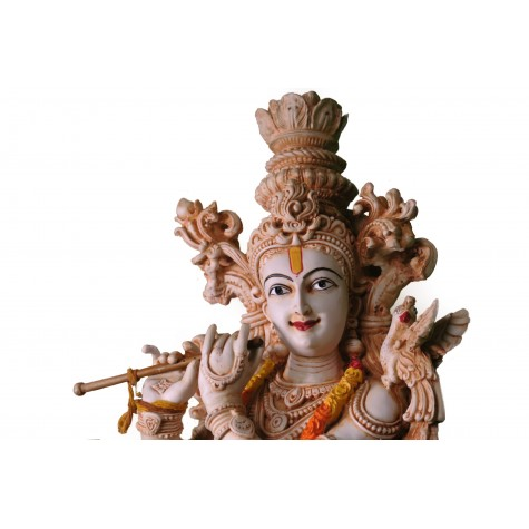 Krishna Handmade Statue Made of Polyresin - 29 inches tall - Indian Handicrafts - Krsna Series