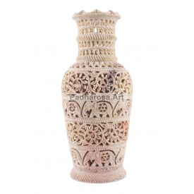 Natural Stone Vase - HandCarved