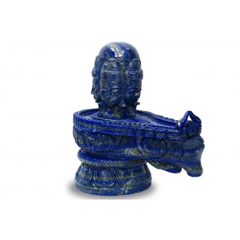 Shiv Linga in Lapis Lazuli Stone