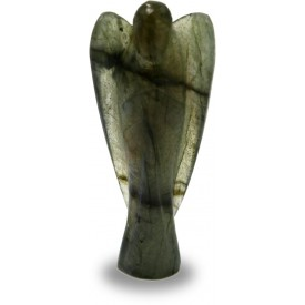 Angel in Labradorite Semi Precious Stone. Pocket Angel made in Rainbow stone for good luck & powers