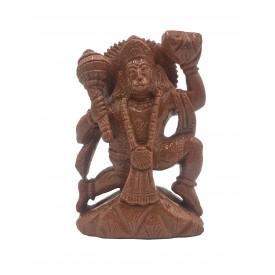 Lord Hanuman handmade in Sandstone - Monkey God Bajrang Bali statue