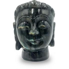 Buddha Labradorite Stone Statue of Face - Semi Precious Stone Buddha Statue