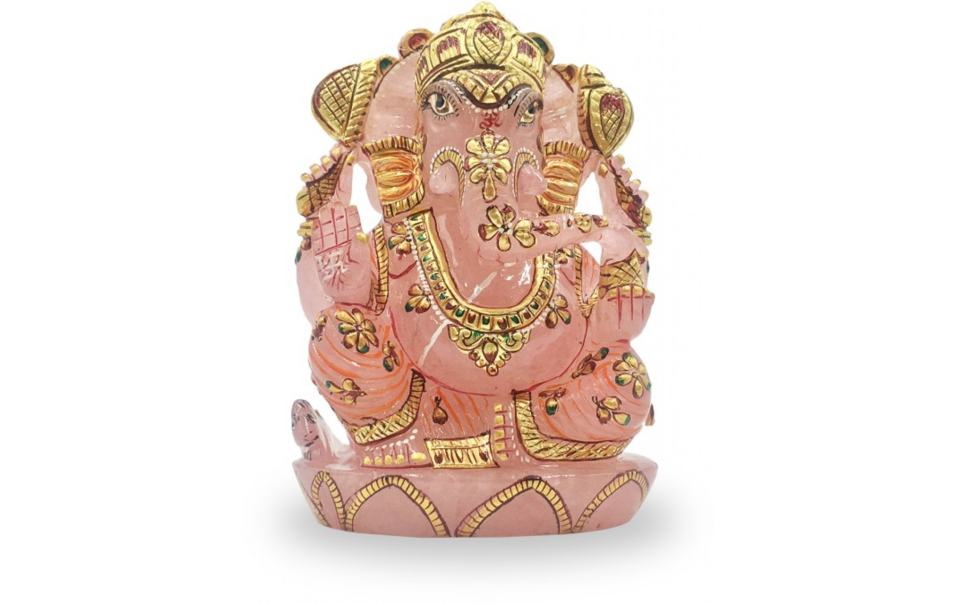 Ganesha in Rose Quartz