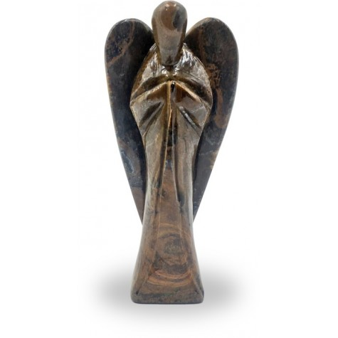 Angel in Tiger Eye Stone - Good Luck Angel in Semi Precious Stone- Gift an Angel