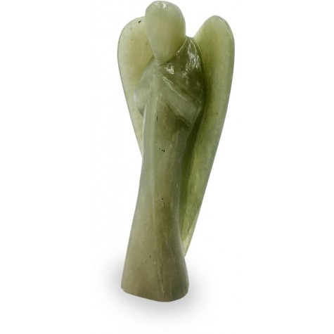Angel in Jadestone - Good Luck Angel in Semi Precious Stone- Gift an Angel