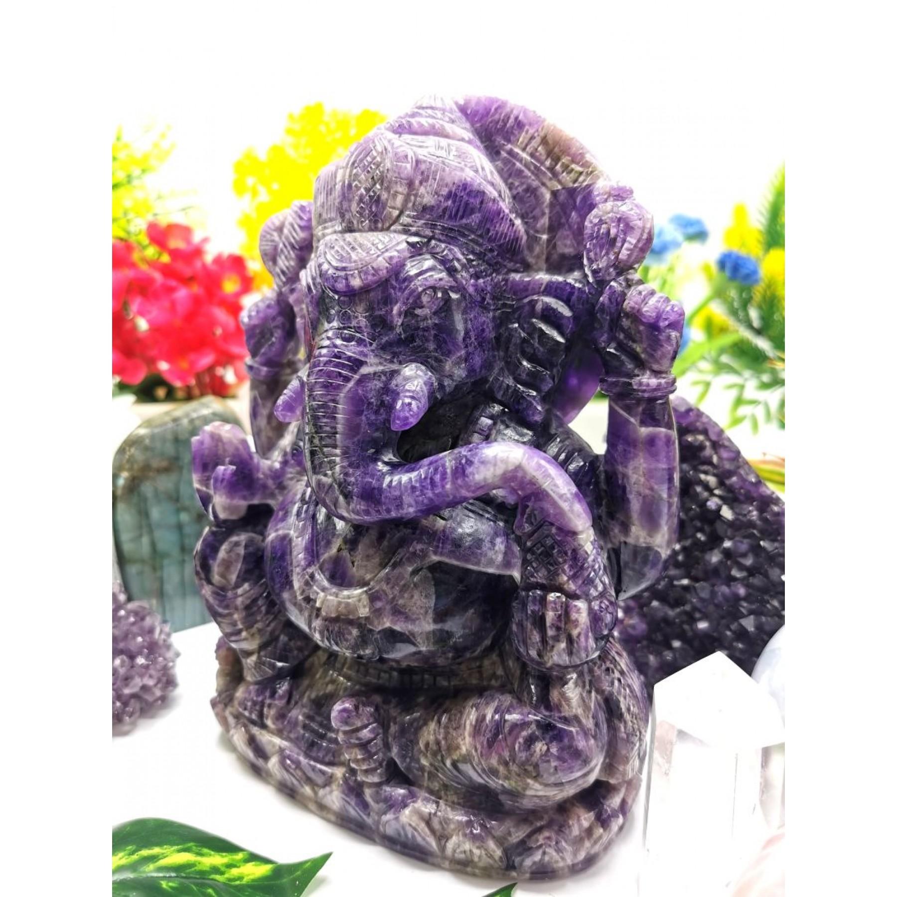 Office Gifts Amethys Ganesha Statue for Home Ganesha Figurine Car