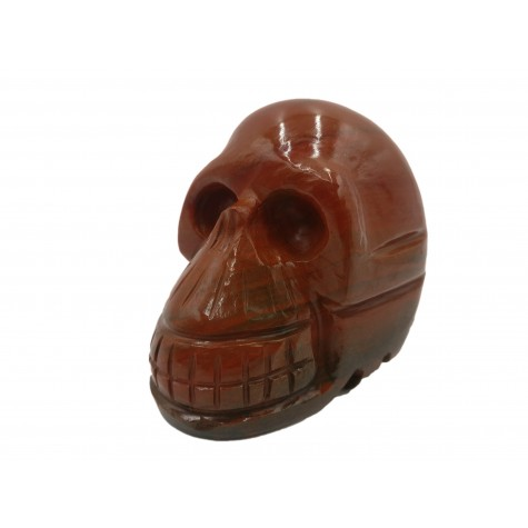 Crystal Skull - Red Jasper hand carved gemstone skull 3 inches - healing stones and crystals