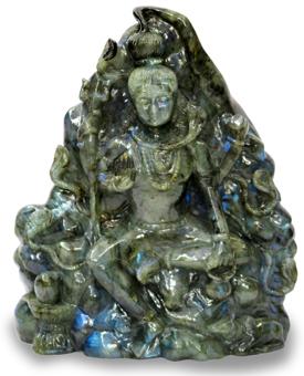 Lord Shiva in Labradorite Stone