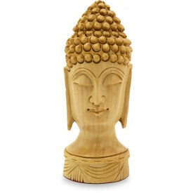 Buddha Head Carved in Gungaru style in Wood