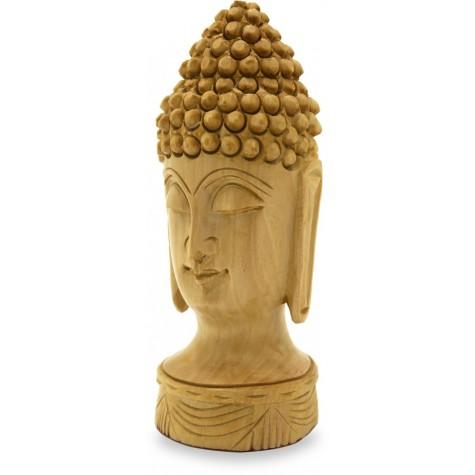 Buddha Head Carved in Gungaru style in Wood