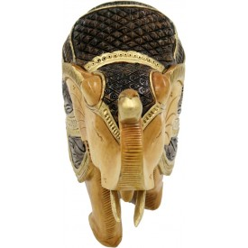 Elephant Jhuldaar Design in Wood - Handicraft Elephant in Wood from India