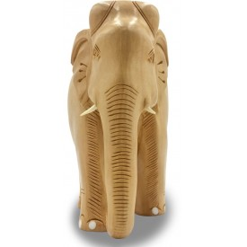 Elephant Handmade in Wood with Plain Finish - Gift an Elephant Handicraft from India