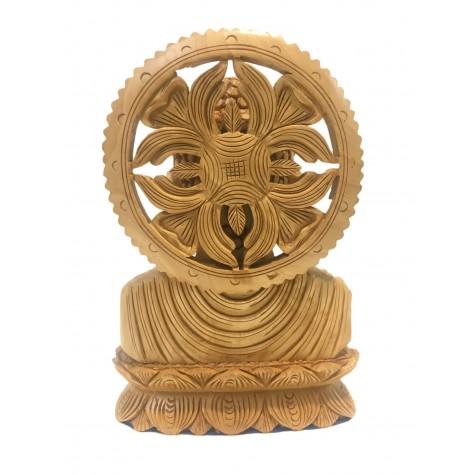 Buddha bust beautifully hand carved in wood 7 inches - Buddah statue, Zen decor, Gautam Buddha handmade figurine